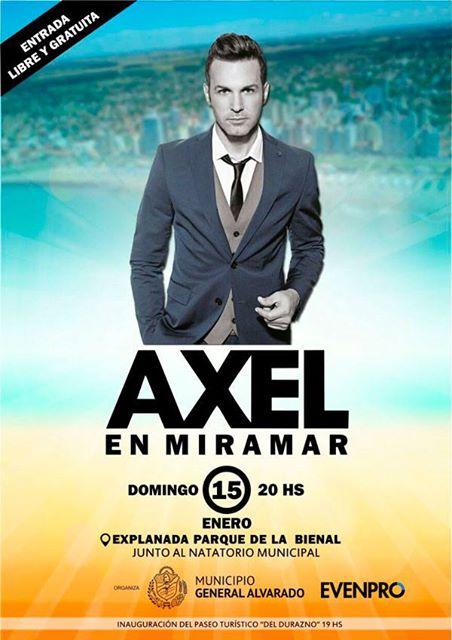 Recital gratuito de Axel en Miramar