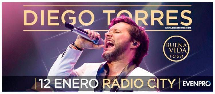 Recital de Diego Torres en Mar del Plata, teatro Radio City